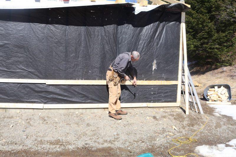 kiln shed,tarps,strapping