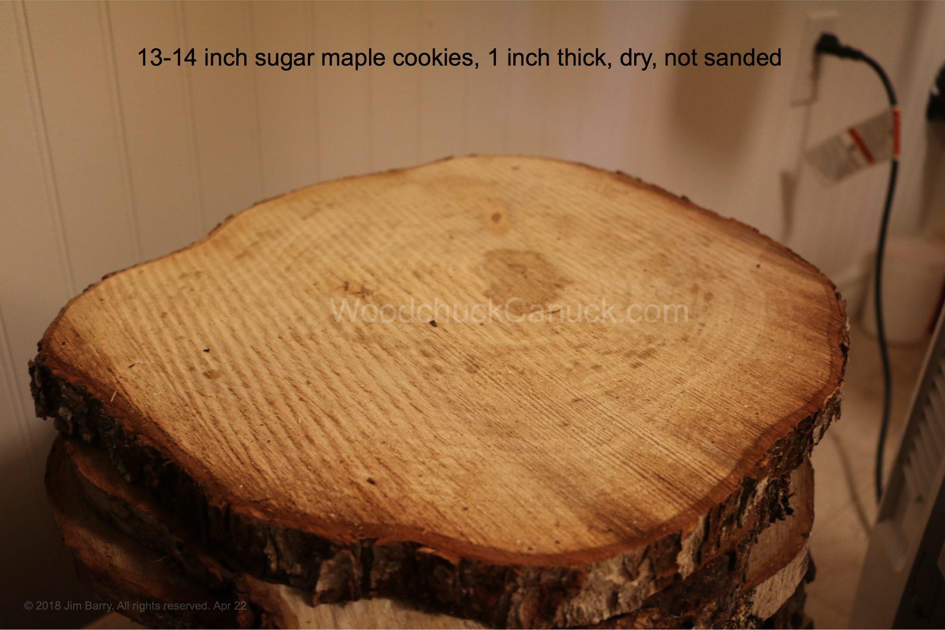 Cookie slices sugar maple inch