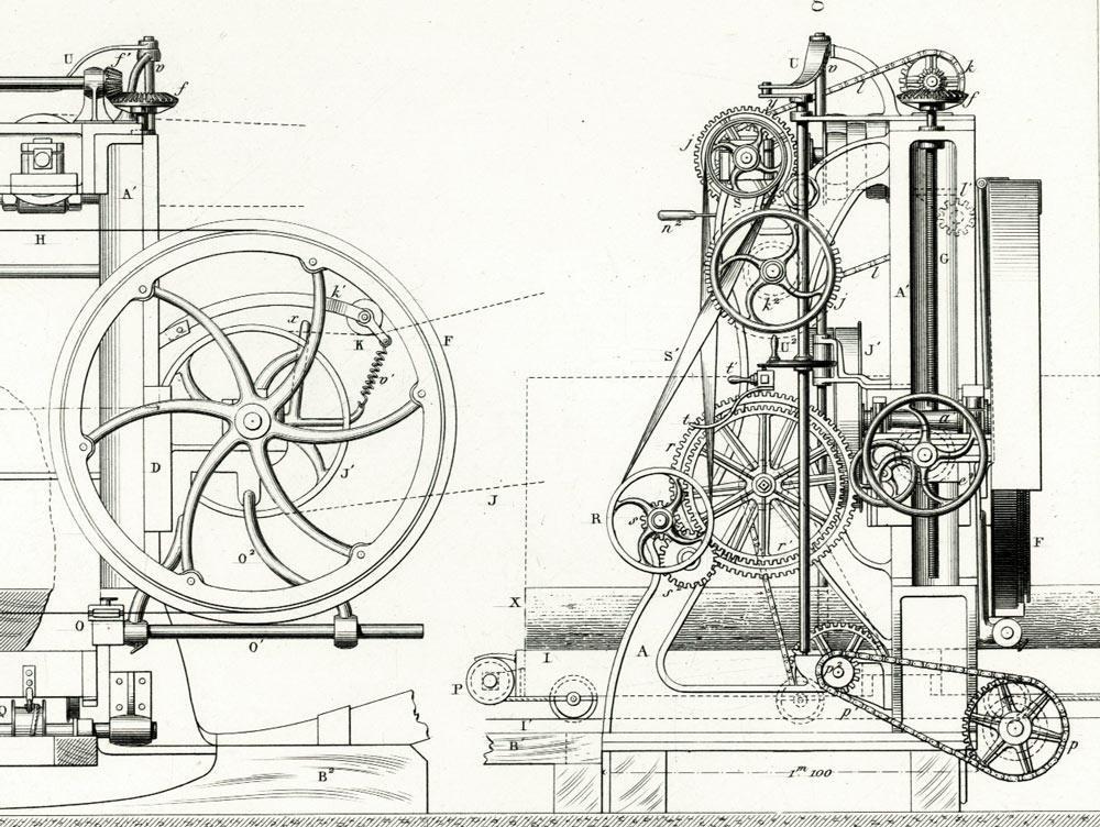 1897 bandmill patent drawing