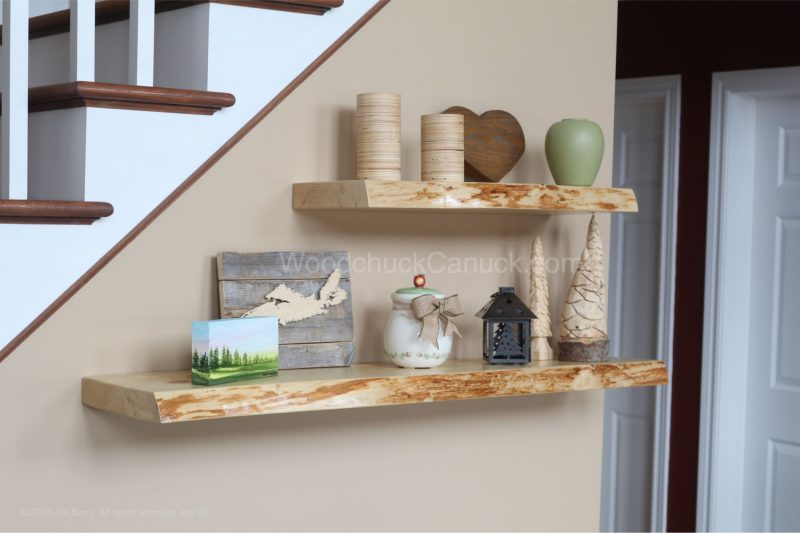 Live edge,floating shelves,pine