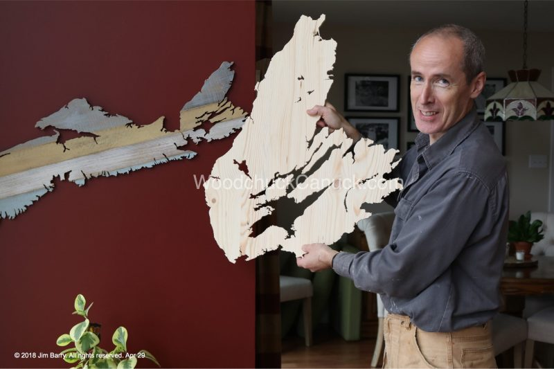 wooden maps,Cape Breton