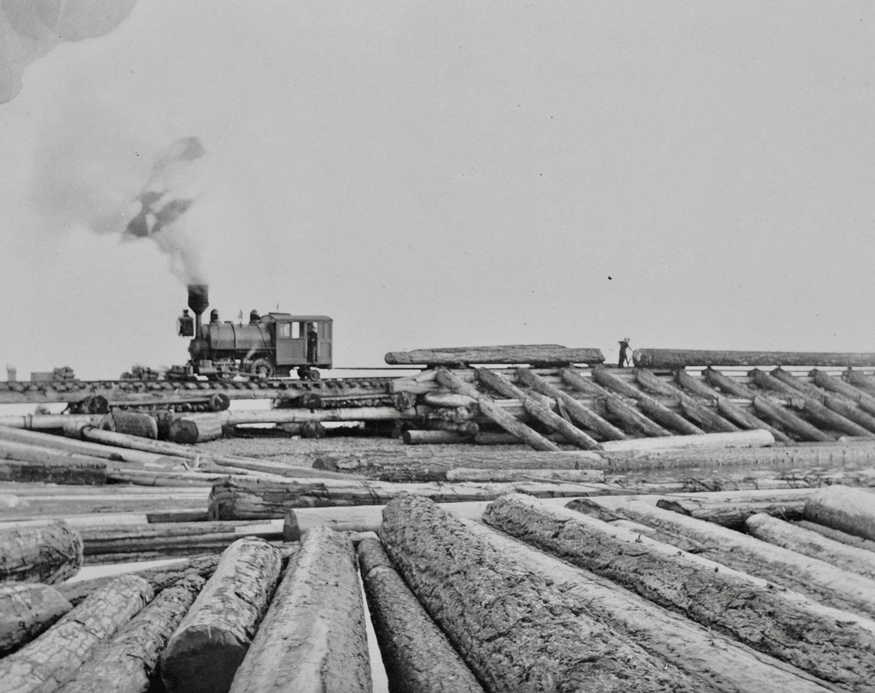 1890s Timber yard with train