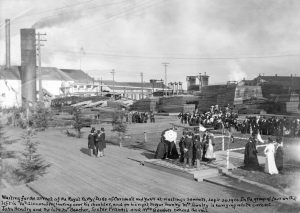 1901 Hastings sawmill prior to the arrival of the Duke and Duchess of Conwall and York