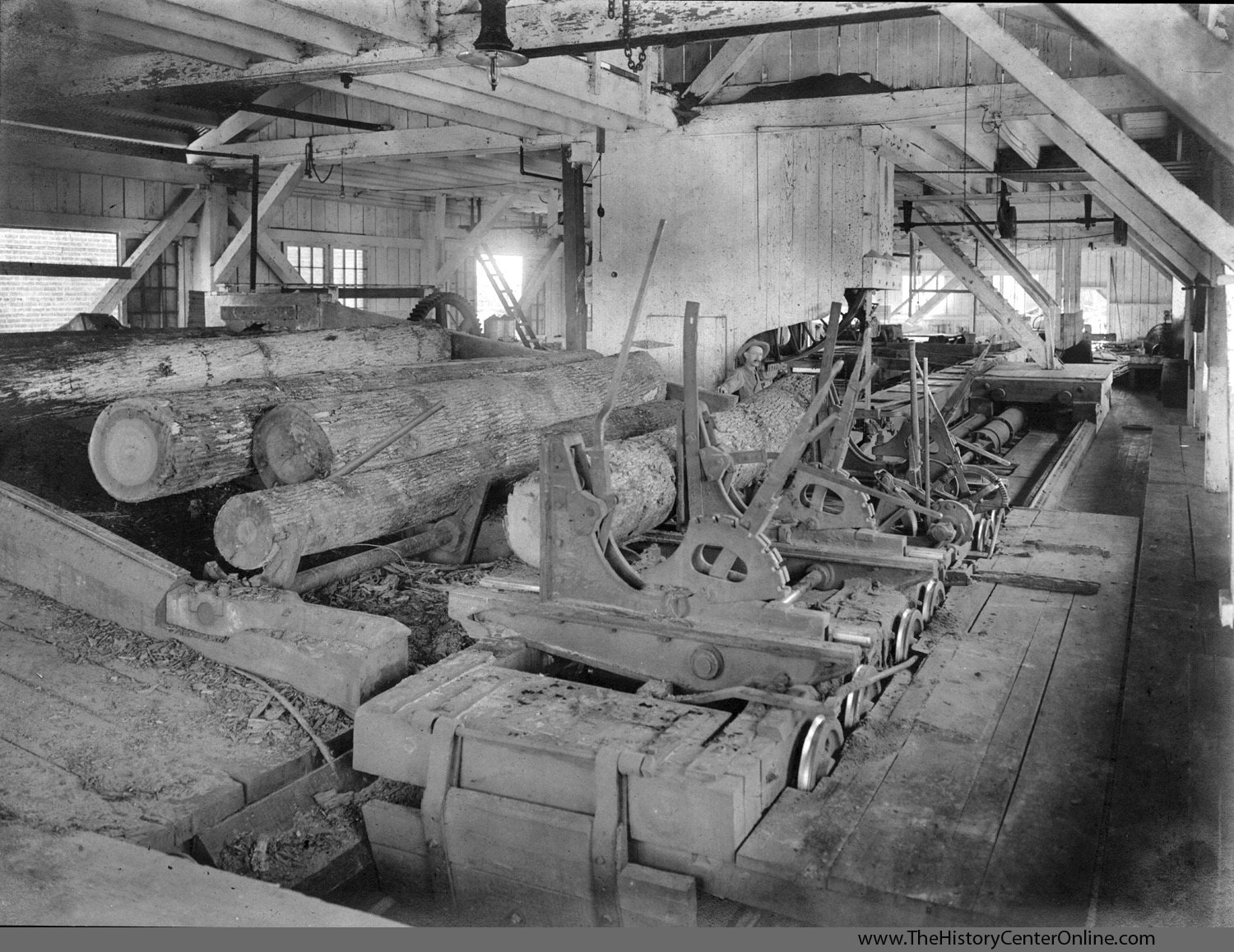 1907 An interior view of the Southern Pine Lumber Company