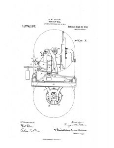 1911 Illustration of a patent for a Band Saw Mill