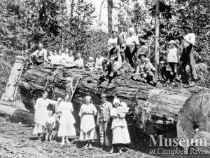 1921 Bendickson Logging operations on Hardwicke Island