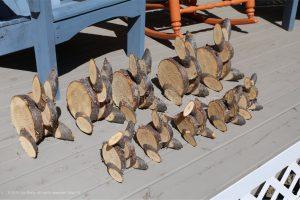wooden rabbits,bunny rabbits,arts and crafts,Made in Nova Scotia