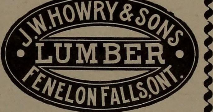 1896 JW Howry & Sons Lumber, Fenelon Falls, Ontario, Canada