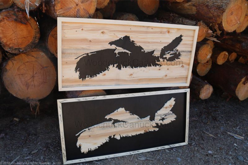 wood maps, Nova Scotia,hand made,Antigonish