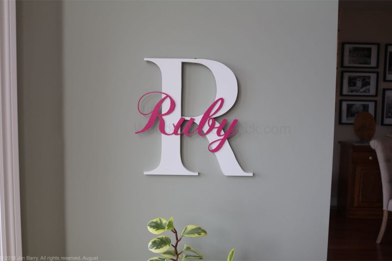 DIY wooden name sign