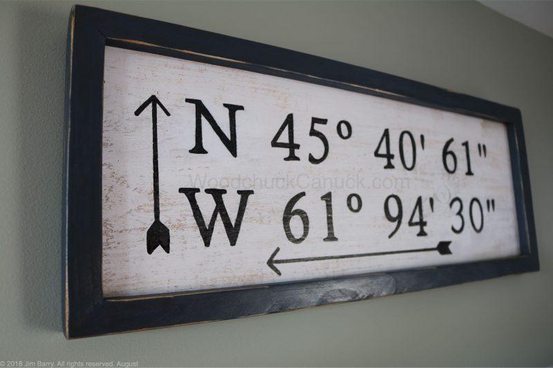 DIY GPS coordinates sign