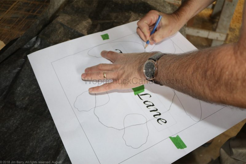 Tracing out a turtle sign
