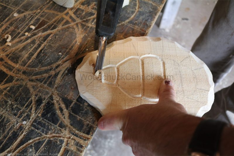 DIY carving of a turtle
