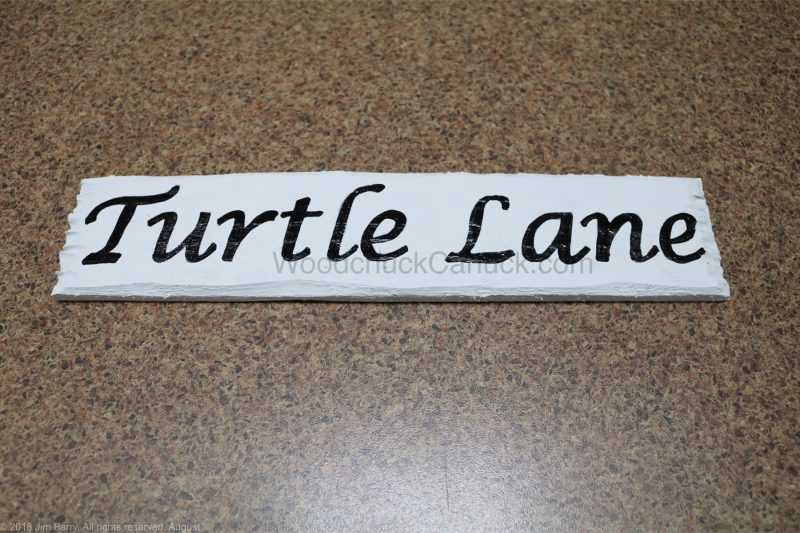 DIY sign for Turtle Lane
