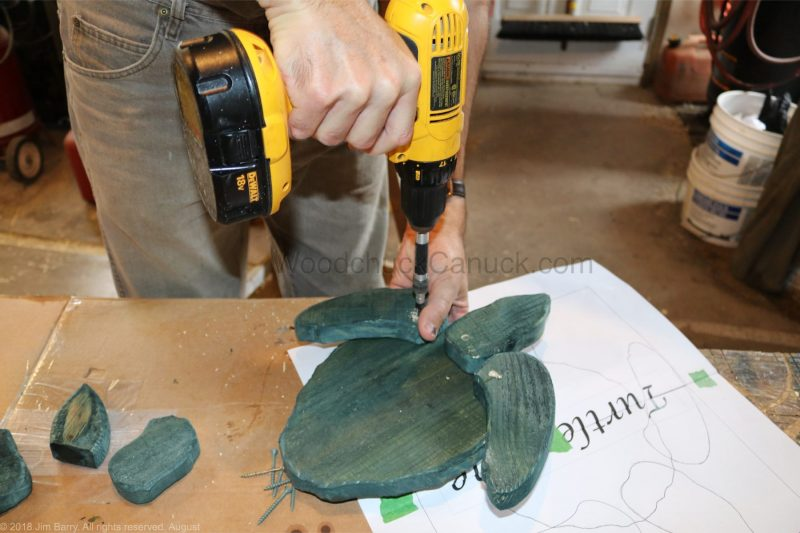 DIY wood turtle