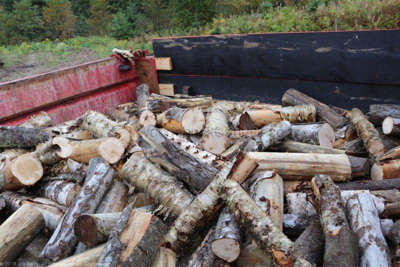 dump truck,firewood