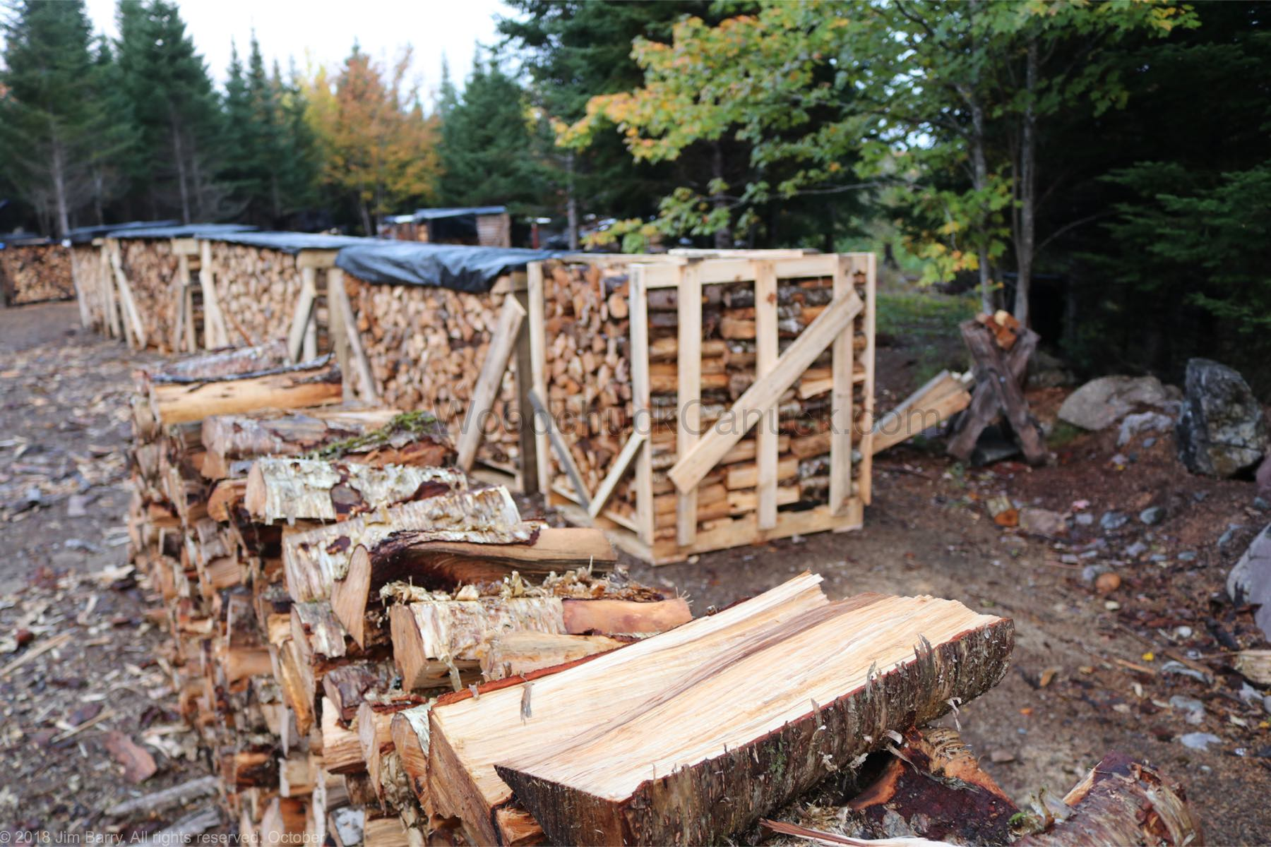 firewood stacked and ready for sale