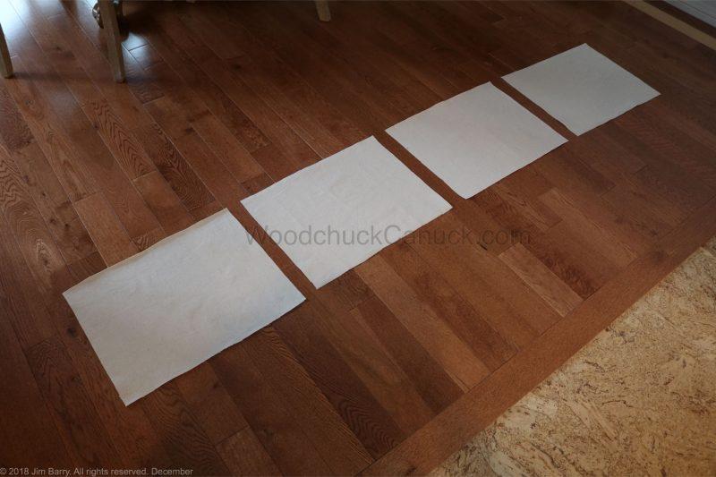 DIY monogramed placemats,painters drop cloths,painting drop cloths