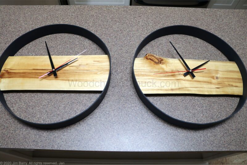 DIY Live Edge Clock