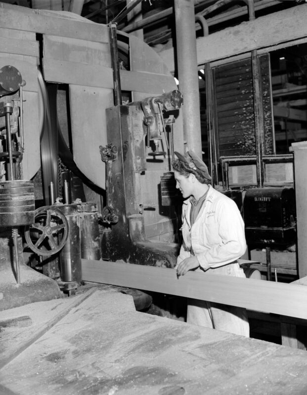 WTC, Women's Timber Corp., creative commons, lumber company, lumber jill, machinery