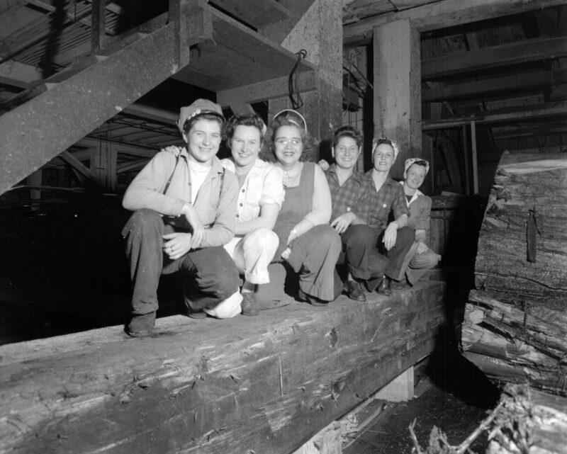 lumber jill, lumber mill, WTC, Women's Timber Corp.