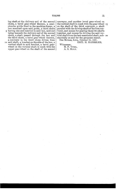 02-03-1903 patent 719585 EH Hanssler portable saw mill pg 6 of 6
