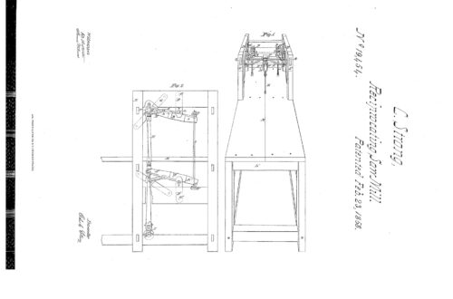 02-23-1858 patent US19454 Sawmill pg 1 of 3