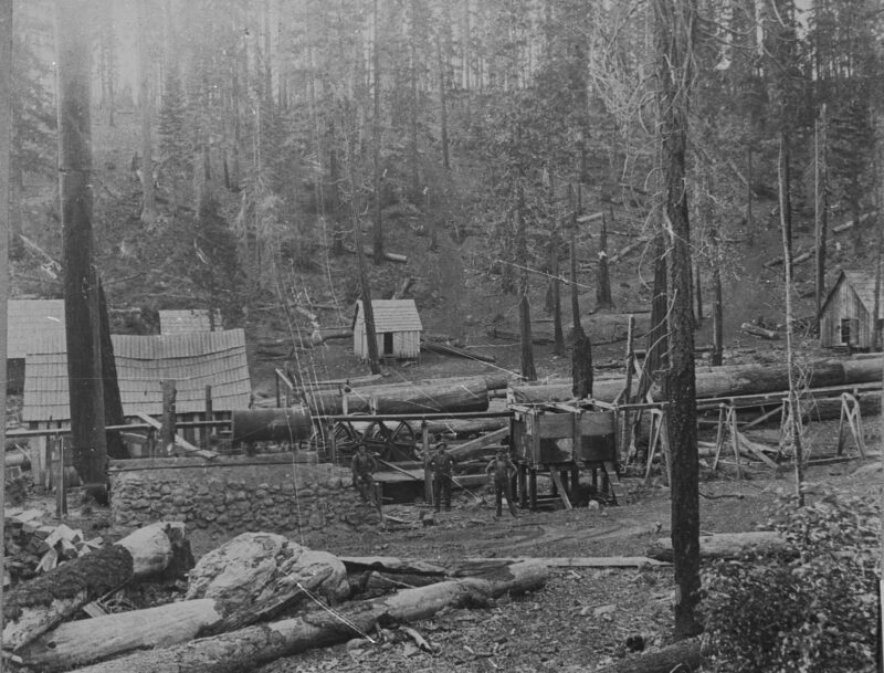 1880s Yellow Jacket Sawmill, Lyonsville. Vintage logging.