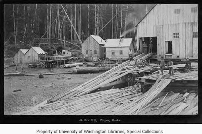 1886-1890 Hamilton Mill. Vintage logging.