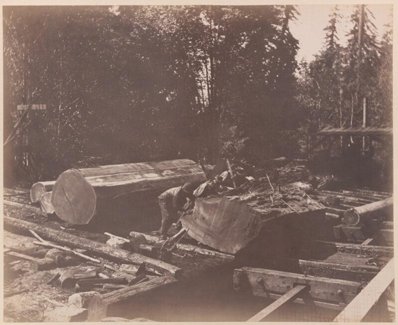 1886 Loading rail cars, Gualala River, Mendocino County, CA.