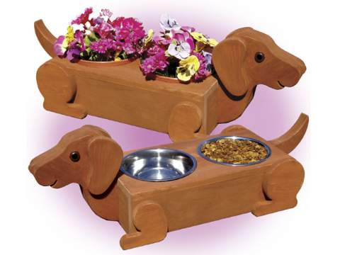 Flower Pot Daschunds Woodworking Plan