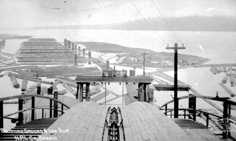 1900s North Pacific Lumber Mill, Barnet, BC.