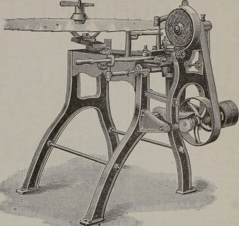 1908 circular saw blade sharpener.
