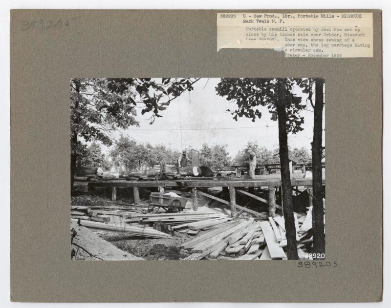 1939, U-Saw Prod., Lbr., portable mills - Missouri.