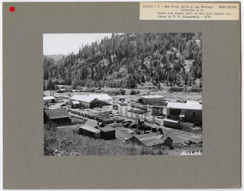 1950 San Poil Lumber Co., Colville, Washington.