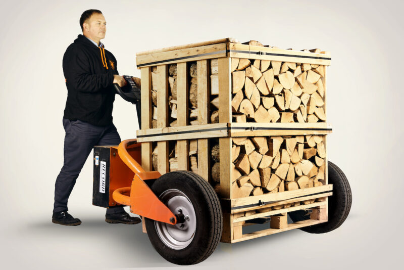 Firewood delivery truck equipment.