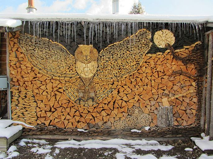 Wood pile art.