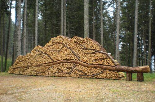 Firewood pile of art.