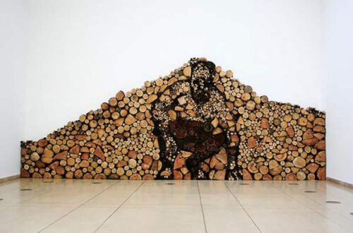 Creative ideas in firewood piles.