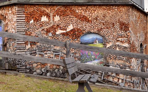 Firewood art around the world