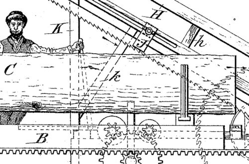 03-09-1886 patent US356930 Patented 02-01-1887 Band Saw Mill featured image