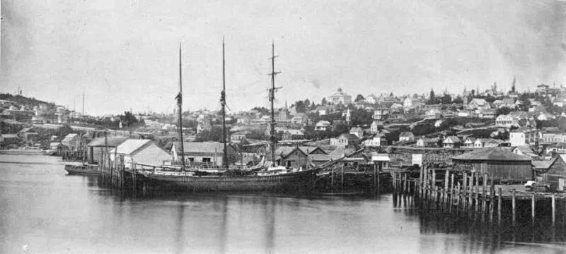 1880 Panoramic view of waterfront, Seattle, Washington