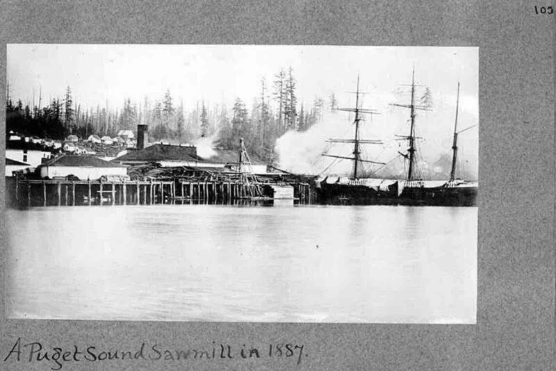 1887 Puget Sound lumber mill