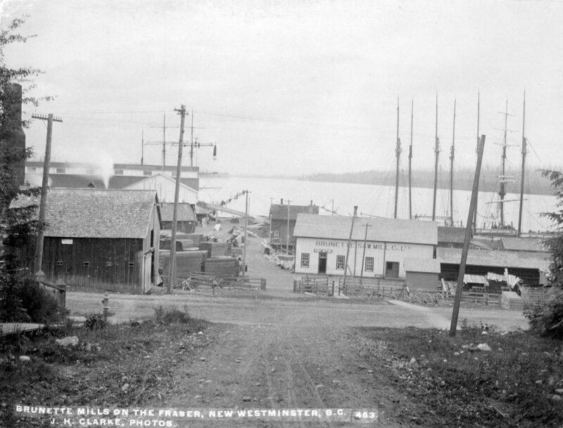 1890 Brunette Mills on the Fraser River, BC.