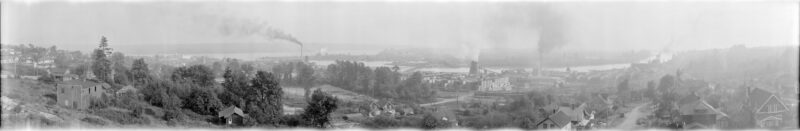1930 Southward view of New Westminster showing Poplar Island.