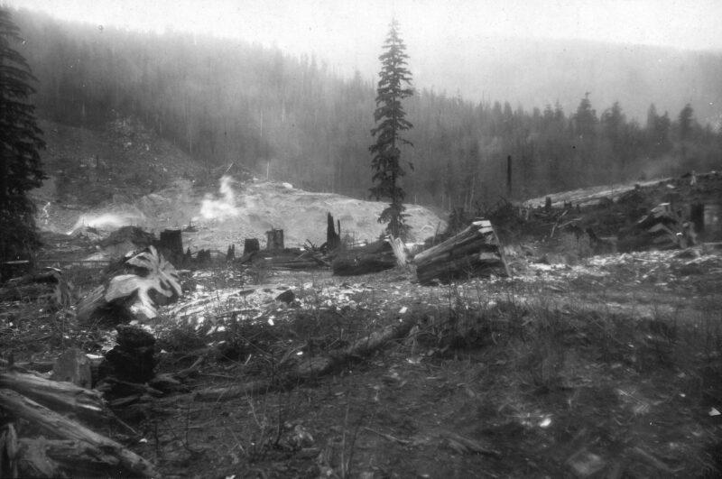 1910 Coquitlam Dam construction