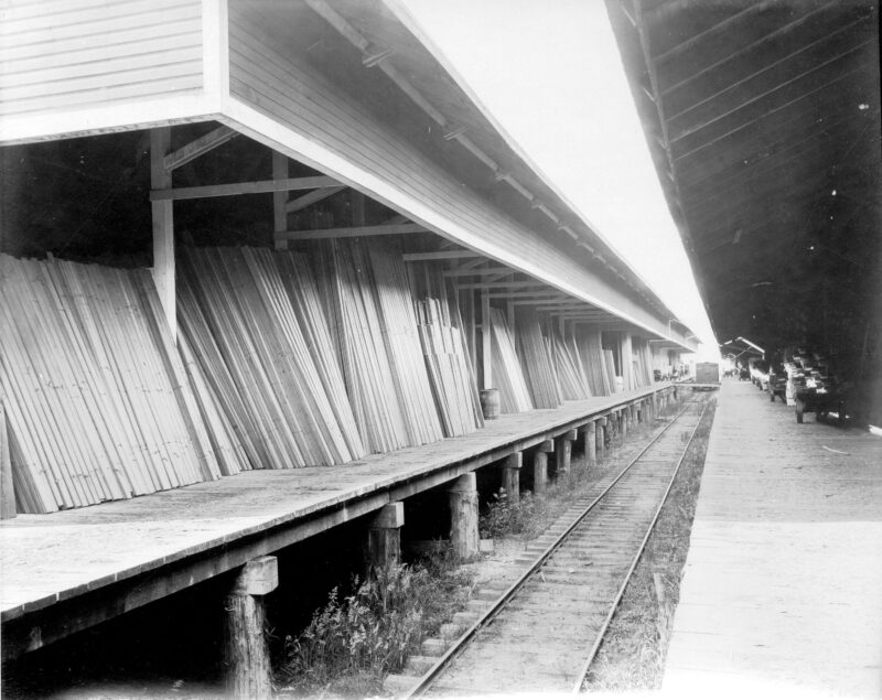 1912 Lumber Sheds along the railway.