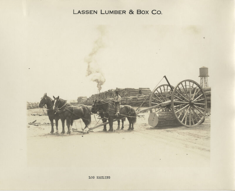 1923 Lassen Lumber and Box Company.