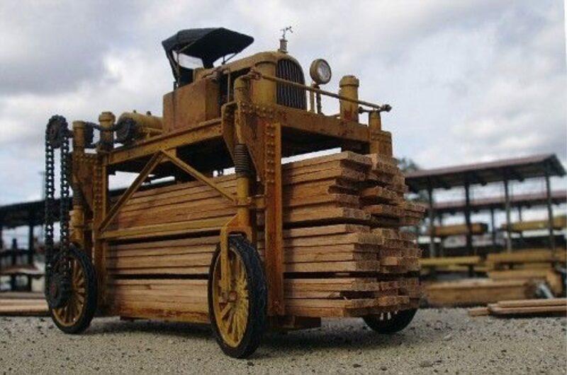 A straddle car.