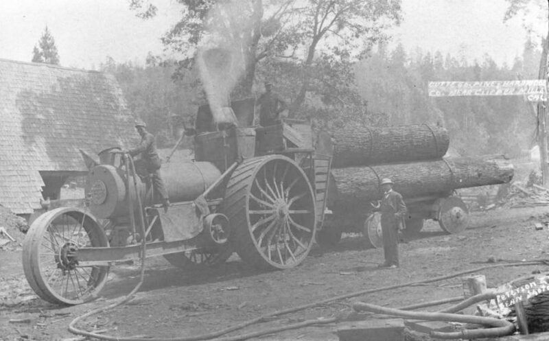 1880 Butte County Pine and Hardwood Company at Clipper Mills.